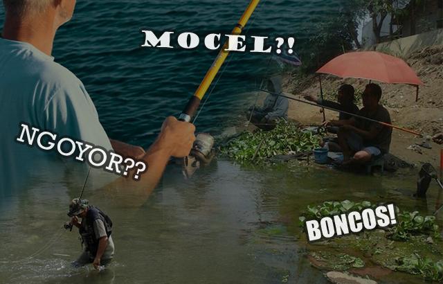 Ilustrasi istilah atau sebutan dalam memancing