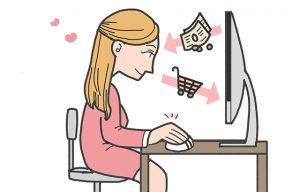Ilustrasi bisnis reseller di toko online