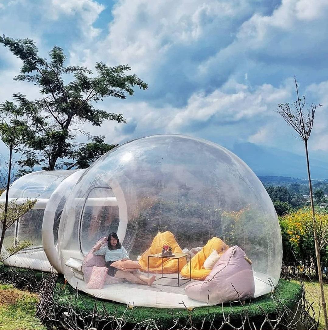 Bubble Tend atau Tenda Gelembung Batu Love Garden