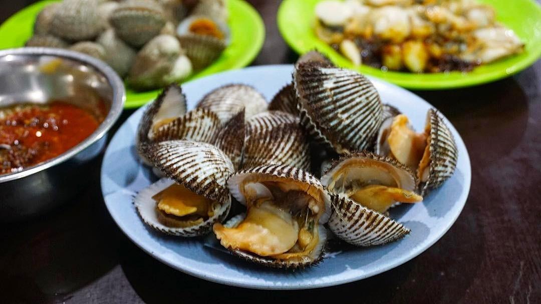 Hidangan Kerang Papa Kerang Rebus Medan