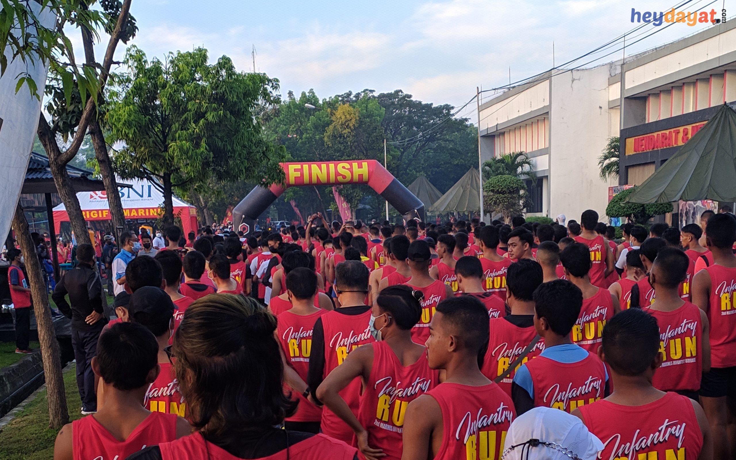 Persiapan Balapan Lari 2nd Infantry Run 2021