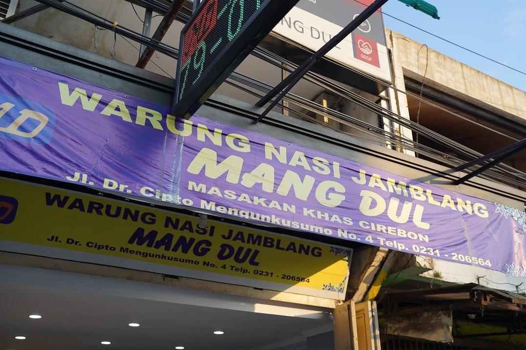 Banner Atau Papan Nama Kedai Nasi Jamblang Mang Dul
