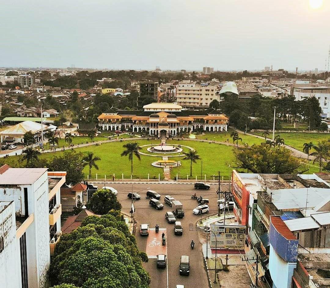 Foto Udara Istana Maimun