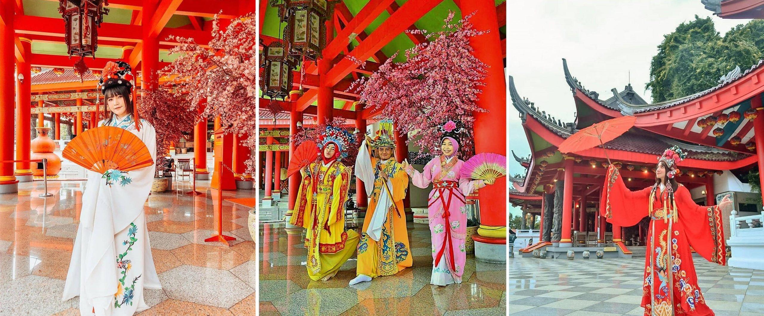 Memakai Pakaian Tradisional China Di Sam Poo Kong